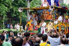 Yatra de Jagganath Rath em Kolkata, Bengal ocidental fotografia de stock