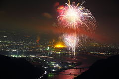 Yatsushiro of fireworks Stock Images