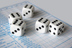 Yatzee Game Dice Royalty Free Stock Photo