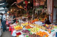 Yau Ma Tei Hurtowy Owocowy rynek, Hong Kong obraz royalty free