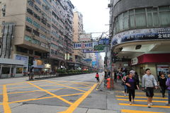 Yau Ma Tei street view in Hong Kong Stock Images
