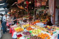 Yau Ma Tei Wholesale Fruit Market, Hong Kong. Yau Ma Tei Wholesale Fruit Market. The market was founded in 1913 Royalty Free Stock Image