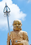 Yaun Chwang sculpture in temple. With sky background Stock Photo