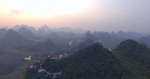 Yaungshuo County at Sunset