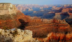 Yavapai Point, Grand Canyon. An early morning view from Yavapai Point, captured in Grand Canyon National Park in Arizona Stock Photos