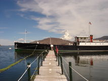 Yavari storico della barca sul titicaca del lago Fotografie Stock