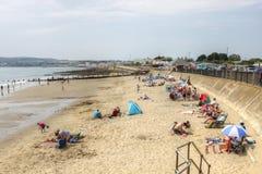 Yaverland no norte da baía de Sandown na ilha do Wight imagem de stock royalty free