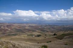 Yavne'el valley. Fields view in Yavne'el valley Stock Images