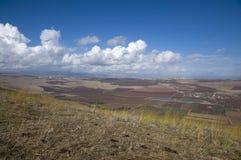 Yavne'el valley. Fields view in Yavne'el valley Royalty Free Stock Image