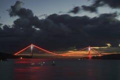 Yavuz苏丹塞利姆桥梁在伊斯坦布尔,土耳其 免版税库存照片