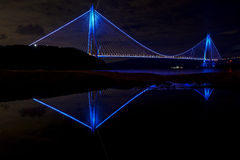 Yavuz苏丹塞利姆桥梁在伊斯坦布尔,土耳其 库存照片