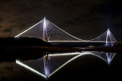 Yavuz苏丹塞利姆桥梁在伊斯坦布尔,土耳其 库存图片