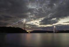 Yavuz苏丹塞利姆桥梁在伊斯坦布尔,土耳其 免版税图库摄影