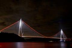 Yavuz苏丹塞利姆桥梁在伊斯坦布尔,土耳其 图库摄影