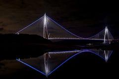 Yavuz苏丹塞利姆桥梁在伊斯坦布尔,土耳其 免版税库存图片