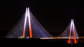 Yavuz苏丹selim桥梁伊斯坦布尔 免版税图库摄影