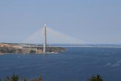 Yavuz Sultan Selim Bridge in Istanboel Stock Afbeelding