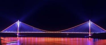 Yavuz sultan selim bridge istanbul stock photo