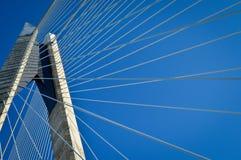 Yavuz Sultan Selim Bridge och stållinjer Fotografering för Bildbyråer