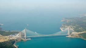 Yavuz Sultan Selim Bridge Turkiet royaltyfri fotografi