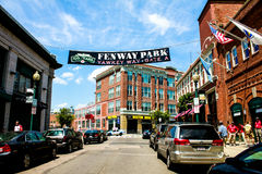 Yawkey Way, Boston, MA. Royalty Free Stock Images