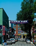 Yawkey Way at Fenway Park, Boston, MA. Fenway Park, Boston, MA, home of the Boston Red Sox Stock Photography