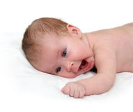 Yawn newborn baby Stock Photos