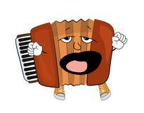 Yawning Accordion illustration Stock Image