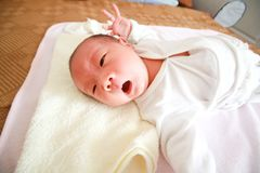 Yawning baby Royalty Free Stock Photography