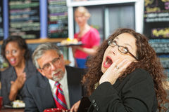 Yawning Business Woman Royalty Free Stock Photo