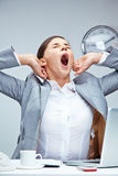 Yawning businesswoman Royalty Free Stock Photography