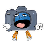 Yawning Camera cartoon Stock Image