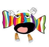 Yawning Candy cartoon Stock Image