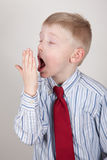 Yawning child Royalty Free Stock Photo