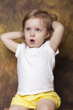 Yawning child Stock Photography