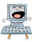 Yawning Computer cartoon Royalty Free Stock Photo