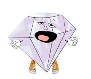 Yawning diamond cartoon Stock Photography