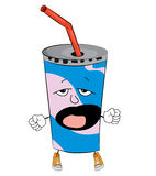 Yawning drink cartoon Royalty Free Stock Photo