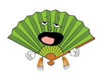 Yawning fan cartoon Royalty Free Stock Photos
