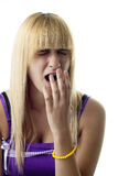 Yawning Girl Stock Image
