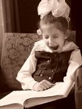 Yawning girl royalty free stock photography