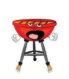 Yawning Grill cartoon Royalty Free Stock Photo