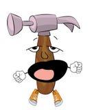 Yawning hammer cartoon Stock Photography