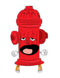 Yawning hydrant cartoon Royalty Free Stock Photo