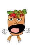 Yawning Kebab cartoon Royalty Free Stock Image