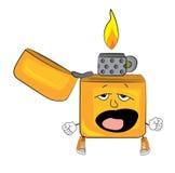 Yawning lighter cartoon Royalty Free Stock Images