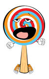 Yawning Lollipop cartoon Royalty Free Stock Images