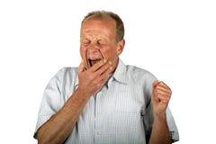 Yawning man. On a white background Stock Image