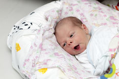 Yawning newborn Royalty Free Stock Photo