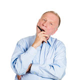 Yawning older man Stock Photo